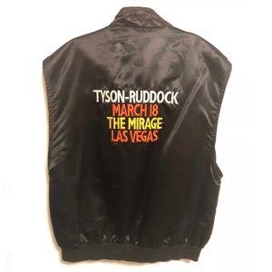 Vintage 90's Mike Tyson vs Ruddock Satin Vest